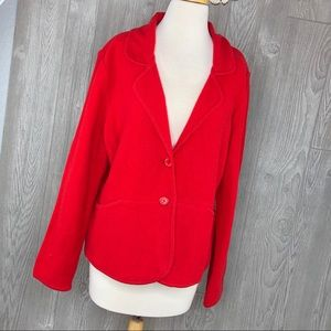 Pendleton Lambs Wool Red Sweater Womens Cardigan